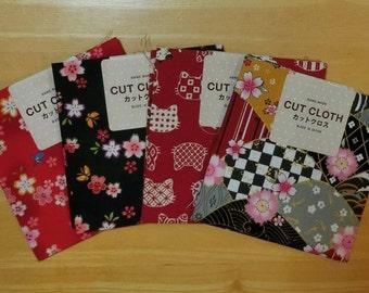 Japanese cotton fabrics (Sakura, Cat, Traditional)