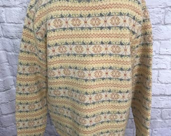 Vintage Lord Jeff Oversized Sweater, Vintage Men's Sweater, Hipster Sweater, Crew Neck Sweater, Cozy Sweater, Ugly Sweater, Grandpa Sweater