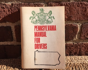 1960's Pennsylvania Manual for Drivers, Vintage Booklet