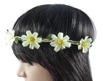 Wedding - ivory flower Crown headband