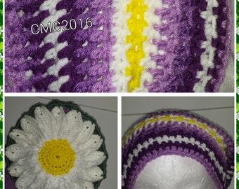 Daisy Slouch Hat Crochet Pattern