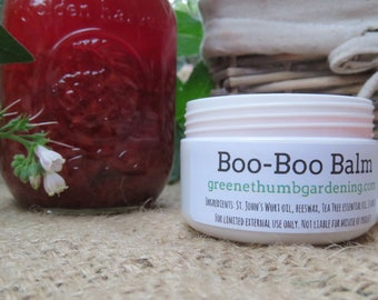 Boo-Boo Balm - All-Natural Healing Salve - Essential Oils - Beeswax - Bites, Cuts, Stings, Burns