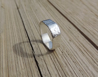 Sterling Silver Rounded Square Ring