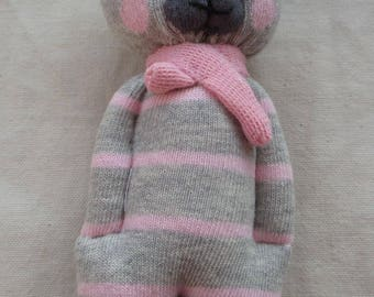 Seriously Cute sock bear, plushie, ce, one of a kind
