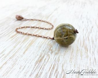 Dowsing Pendulum, Crystal Pendulum, Copper Pendulum, Opal Pendulum, Reiki Healing, Wiccan Tool, Divination Tool, Intuition Gemstone Pendulum