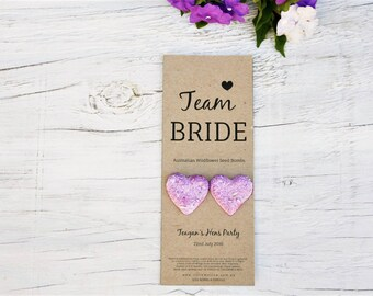 Team Bride Favours, Australian Native Wildflower Seed Bombs, Favors, Bomboniere, Team Bride, Bridal Shower, Handmade
