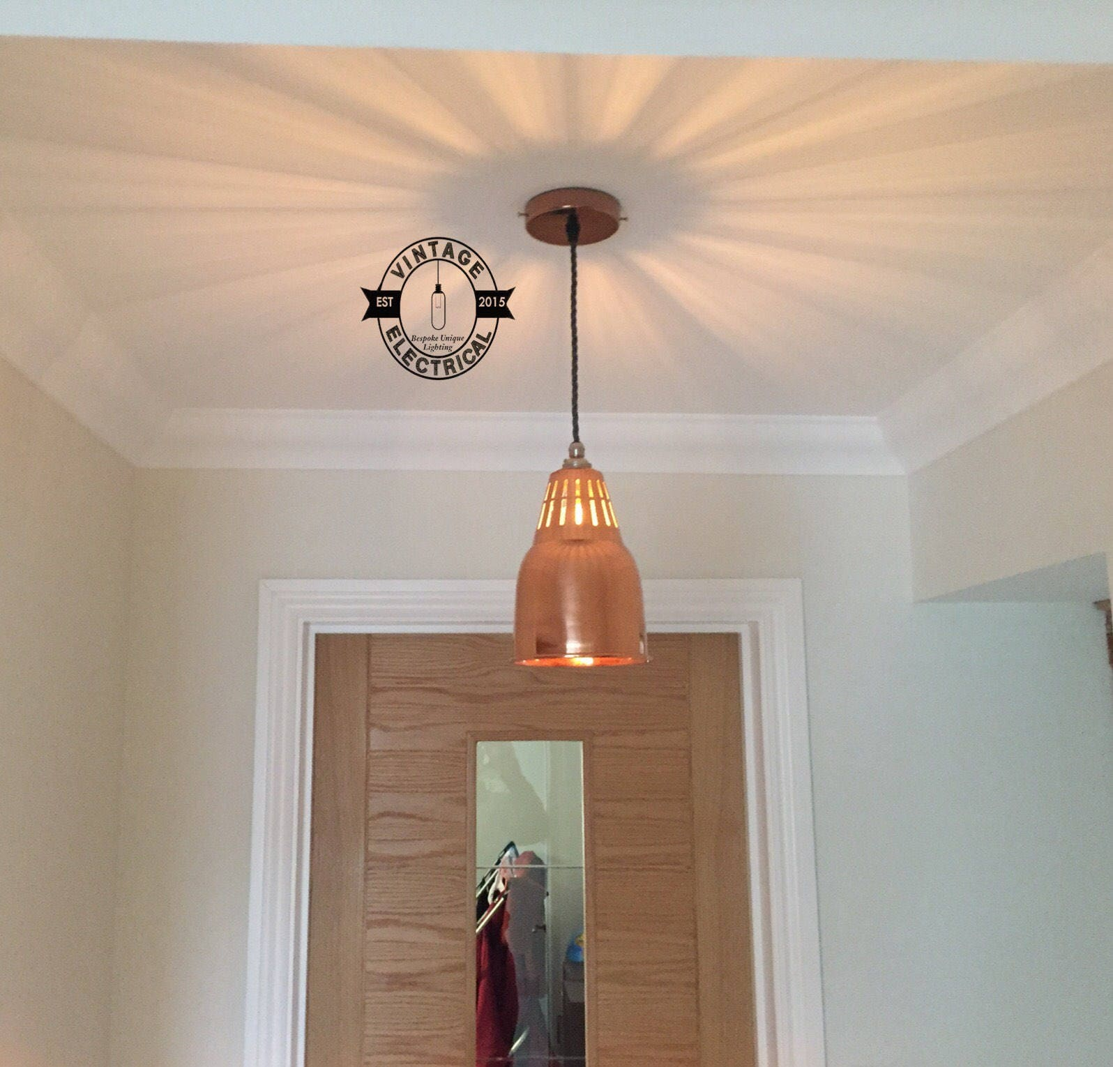 The Coltishall Solid Copper Pendant Drop Light Industrial factory