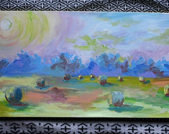 Bright and Modern Acrylic Landscape Painting