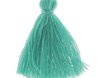 30mm TEAL cotton tassel