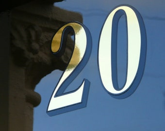 2 x Gold Transom or Fanlight House Numbers