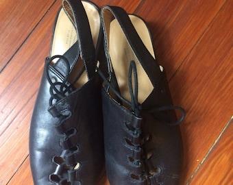 Vintage lace up bass sandals