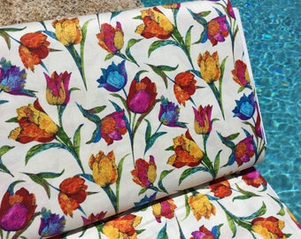 Marblehead Butterflies Are Free Tulips ~  by Ro Gregg for Fabri-Quilt ~ Quilting Cotton Fabric
