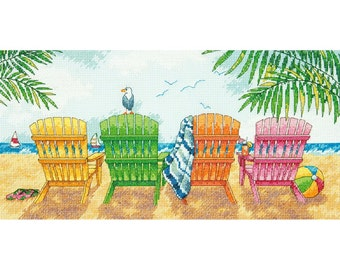 Dimensions Counted Cross Stitch Kit - Beach Chairs #70-35325