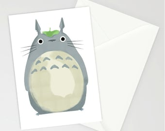 Totoro blank A6 greetings card