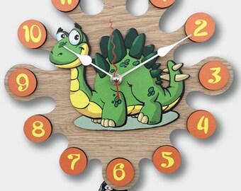 Pendulum Wall Clock Dinosaur