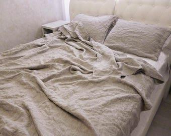 Linen Duvet Cover,Gray Linen Bedding,Natural Duvet Cover,natural Organic  Duvet Cover,flax Bedding,queen,king