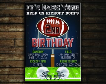 Game Time Football Birthday Invitation
