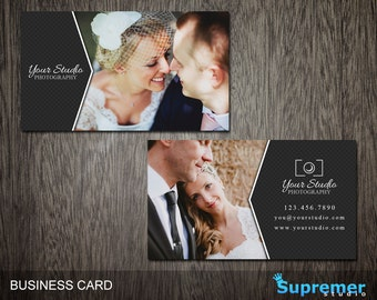 Photography Business Card Template - Business Card for Photographers Photoshop Templates PSD - BC006