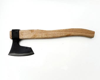 Hand Forged Wrought Bearded Throwing Axe Tomahawk Hatchet Hunting Tool