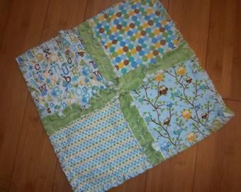 Snips & Snails Mini Security Blanket - Rag Quilt