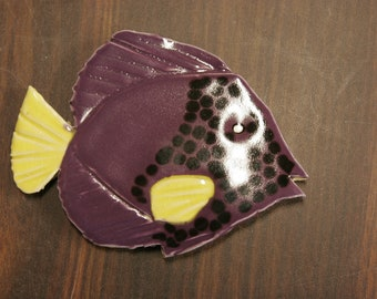 Hand made, Angelfish, Tile for mosaic, Or any art project.