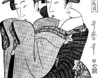 Beeswax Designs Two Geishas Cling Mount Rubber Stamp