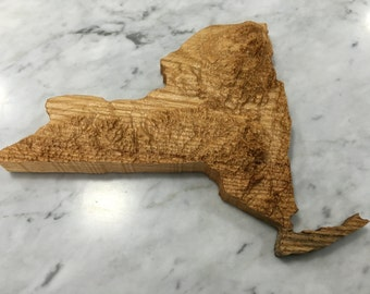 New York State 3D Relief Map