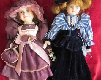 2 porcelain dolls - adult collector dolls