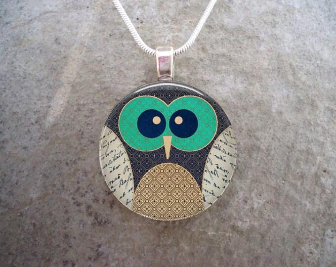 Owl Jewelry - Glass Pendant Necklace - Owl 5