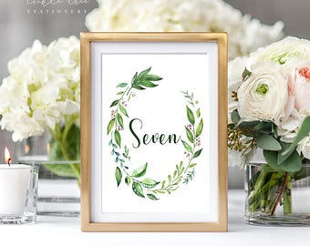 Breezy Leaf - Table Numbers (Style 13701)