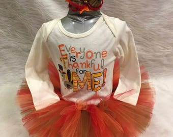 Everyone is thankful for me Tutu set