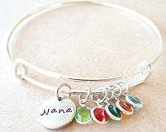 Bracelet, Nana Bracelet, grandma Bracelet, gift for mom, grandma gift, custom mom Bracelet, Custom Nana keychain, valentines gift