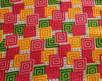 1 yard of Rayon Fabric, Indian Fabric, Abstract Print Fabric, Multicoloured Rayon Fabric