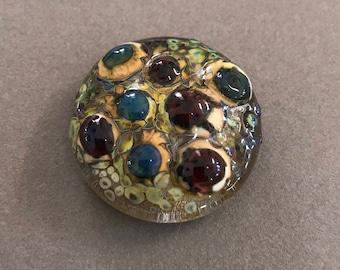 Handmade lampwork glass cabochon pendant bead