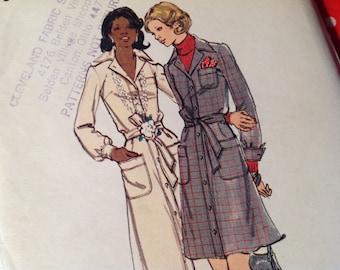 Vintage Butterick Pattern 3297,  dress pattern, shirtwaist dress pattern, size 10 pattern, uncut pattern