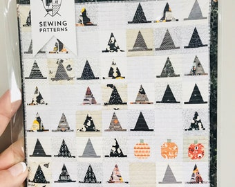 """Halloween Haberdashery Quilt Pattern by Melissa Mortenson of Polka Dot Chair- Finished Quilt Size 53"""" x 53"""""""
