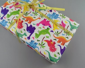 Cute Dinosaur Wrapping Paper,Birthday Gift Wrap,Baby Shower Wrapping Sheets,Jurassic Gift Wrap,Craft Paper