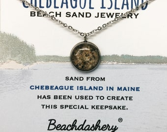 Chebeague Island Sand Jewelry, Chebeague Maine Sand Jewelry, Beach Sand Jewelry, Sand Jewelry, Summer, One of a Kind Gift, Made in Maine