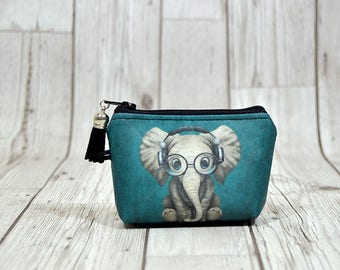 Elephant gifts etsy elephant gift coin wallet elephant keychain walletelephant key fob wallet coin purse cute solutioingenieria Images