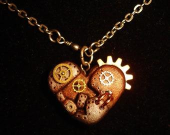 Mechanical Heart Necklace