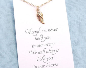 Bereavement Gift | Miscarriage Necklace, Angel Wing Necklace, Infant Loss, Miscarry Gift, Sympathy Gift, Condolences, In Loving Memory |R4