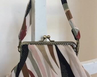 Handmade vintage  kimono clasp bag