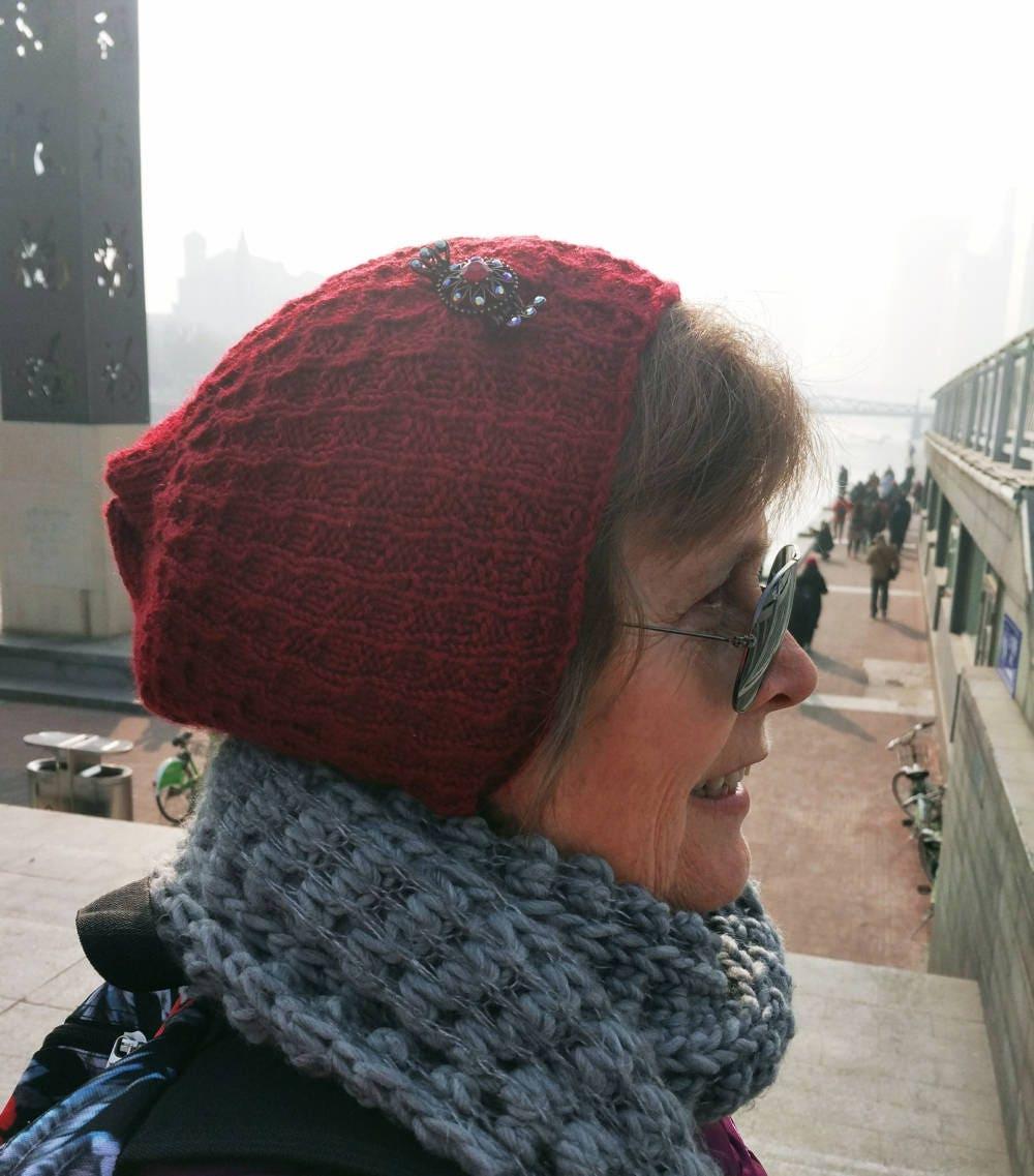 Knitting PATTERN, Knit beanie patterns for men, Slouchy hat (sports ...