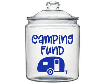 Camping Fund Decal, Money Jar Decal, Camping Decal, Adventure Decal