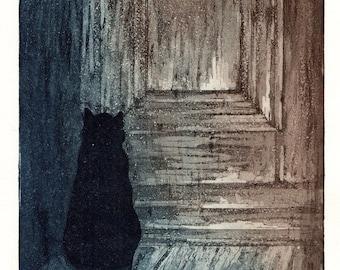 Waiting / Original etching & aquatint