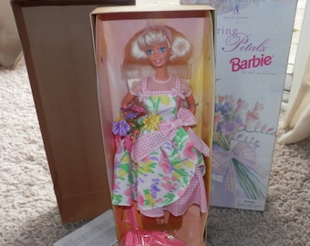 1996 avon spring petals barbie special edition new in box avon exclusive