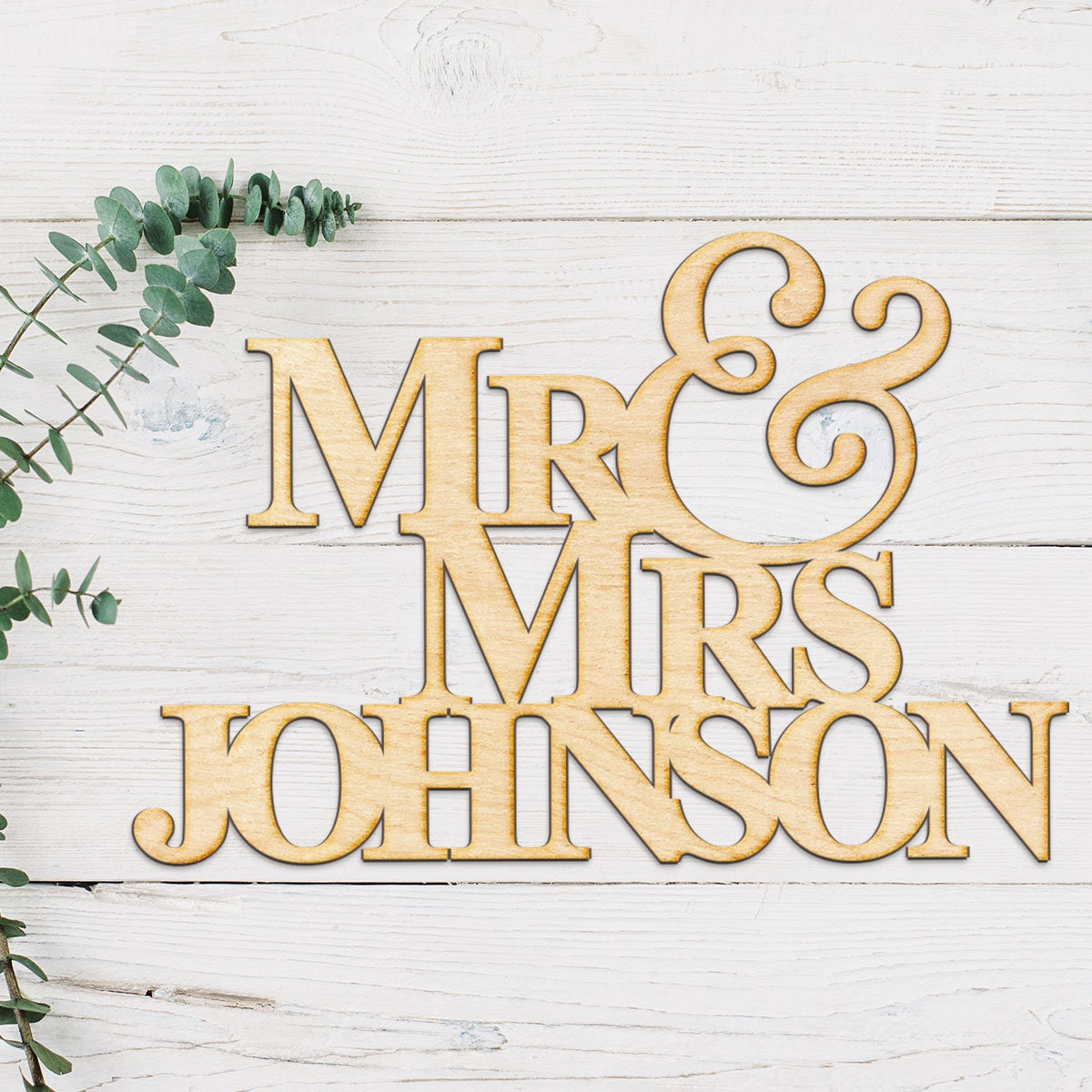Wedding Name Wood Sign Laser Engraved Sign Wood Sign Wall