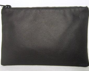 Leather, Clutch, Bag, Purse