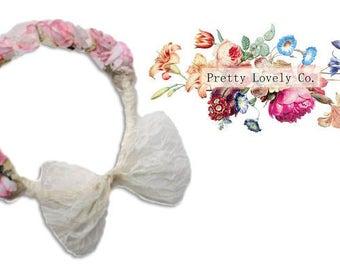 Luxury Flower Crown Garland, Perfect for Brides, Bridesmaids and Flowergirls