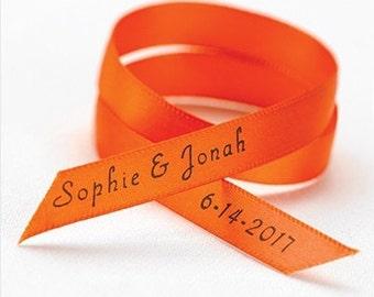 Personalized Satin Wedding Favor Ribbon (Set of 50)